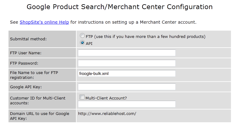 ShopSite and Google Product Search