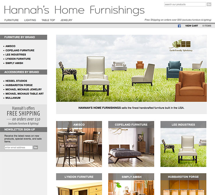 Hannah S Home Furnishings Online Store