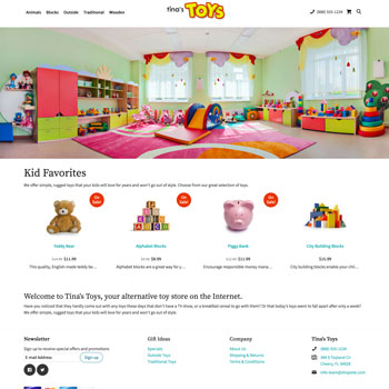 Tina's Toys Online Store Demo For ShopSite Manager E-commerce