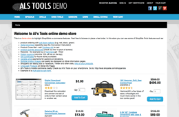 Al's Tools Online Store Demo For ShopSite Pro E-commerce