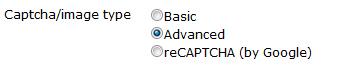 captcha settings in ShopSite version 12