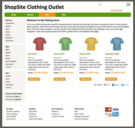 shopsite built in ship shape template With shopsite templates